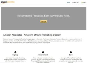 amazon affiliate sign up