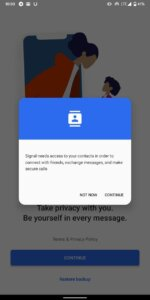contact permission for signal app