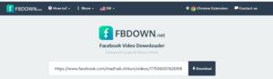facebook video download from website